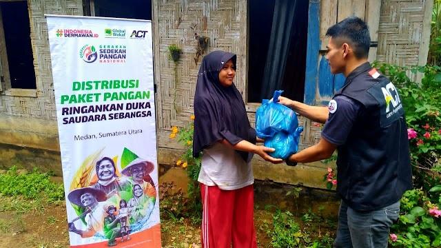 Dukung GSPN, ACT Sumut Telah Salurkan 1.000 Paket Pangan