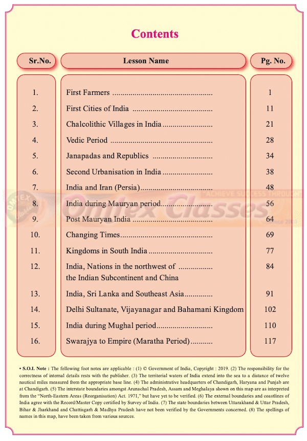 Balbharati Solutions for History 11th Standard Maharashtra State Board Chapter wise List - Free