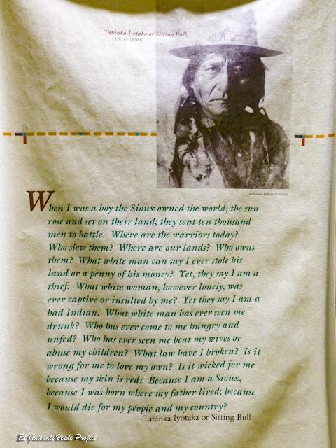 Toro Sentado, pensamientos, Akta Lakota Museum - Chamberlain, Dakota del Sur
