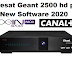 Moresat Geant 2500 hd plus New software 2020