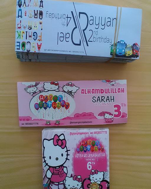 Stiker dan Kartu Ucapan Ulang Tahun