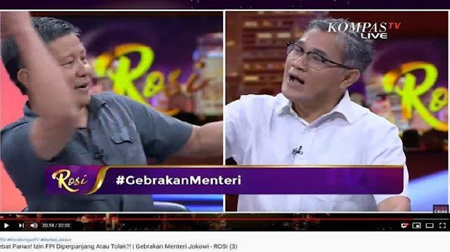 Debat dengan Budiman Sudjatmiko, Rocky Gerung Pernah Anti FPI: Gua Pernah Berkelahi dengan Munarman