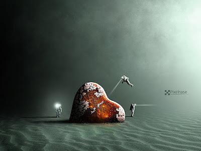 Arte surrealista digital.