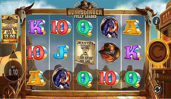 Main Gratis Slot Indonesia - Gun Slinger Fully Loaded (Blueprint Gaming)