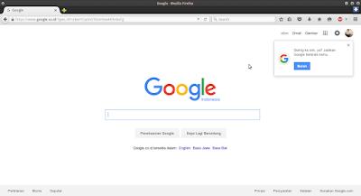 buka browser lalu ketik google.com