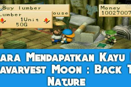 Cara Mendapatkan Kayu Di Harvest Moon Back To Nature