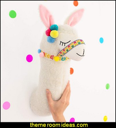 Llama head wall decor - Stuffed animal head wall decor Llama room decor for kids - Llama head wall mount for bedroom