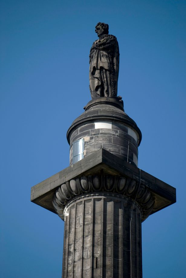 Top of the Melville Statue in St Andrews square showing Henry Dundas