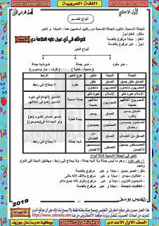 حصريا بوكليت مدرسة سان جوزيف في اللغة العربية للصف الاول الاعدادي الترم الاول