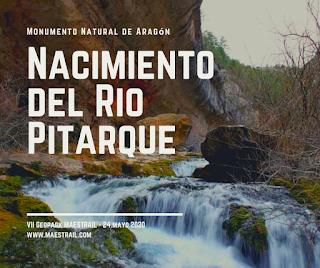 monumento natural aragón nacimiento rio pitarque geoparque maestrail mayo 2020