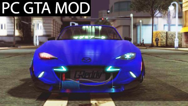 Free Download Mazda MX-5 Miata Cyberpunk  Mod for GTA San Andreas