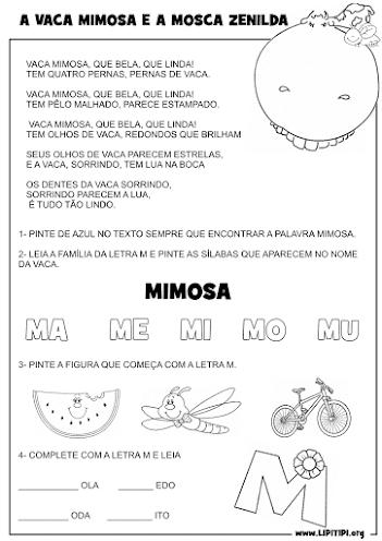 Sequência Didática Livro A vaca Mimosa e a Mosca Zenilda