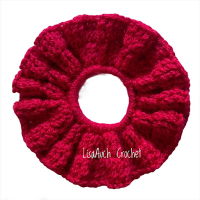 Crochet hair scrunchie pattern free
