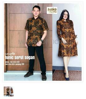 COUPLE BATIK COUPLE Couple Tunik Serut Sogan Kakt