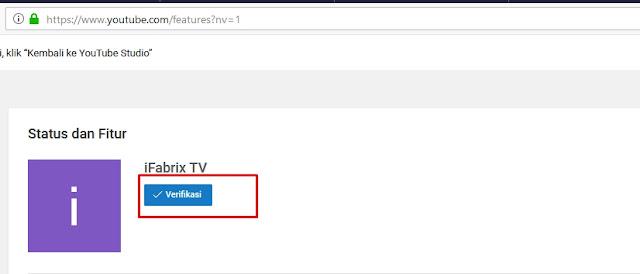 cara memverifikasi akun youtube