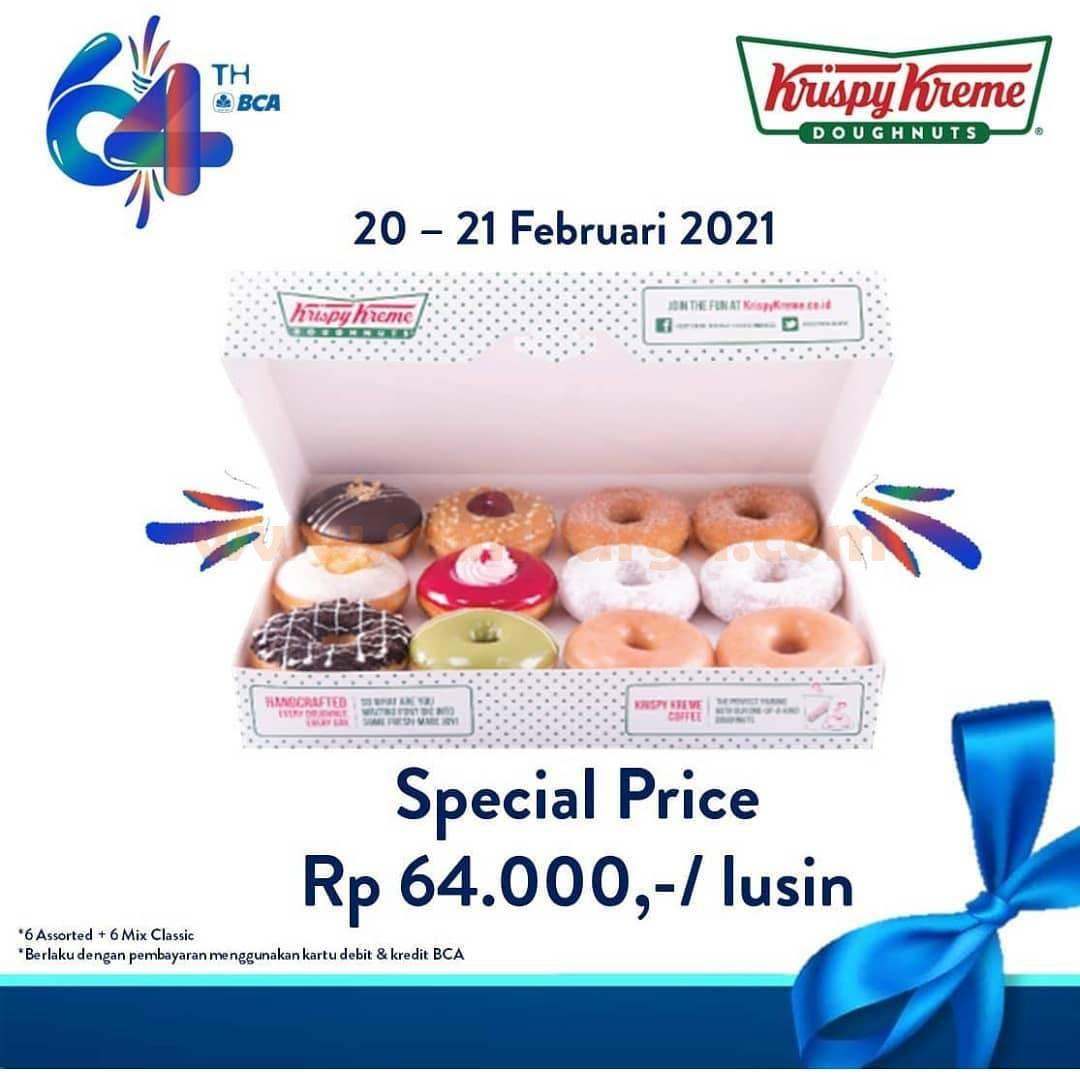 KRISPY KREME Promo HUT BCA 64 – DISKON Harga Spesial Rp 64.000 per Lusin Donut