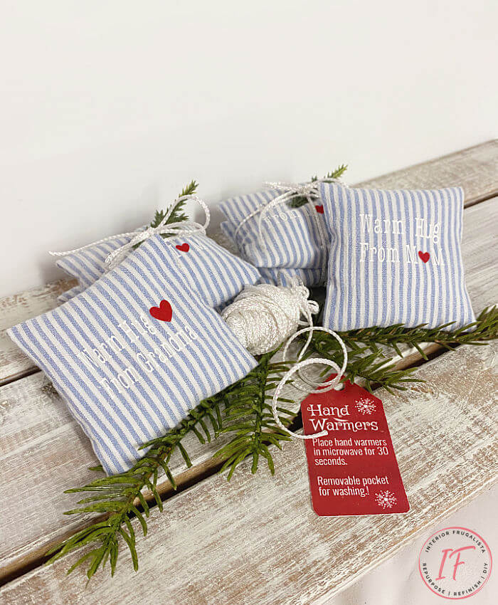 Memory Garment Hand Warmers made with a departed loved one's clothing scented lavender with washable pocket and rice filled pouch, handmade gift idea.