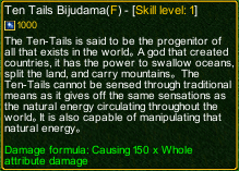 naruto castle defense 6.6 Zatsu Ten Tails Bijudama detail