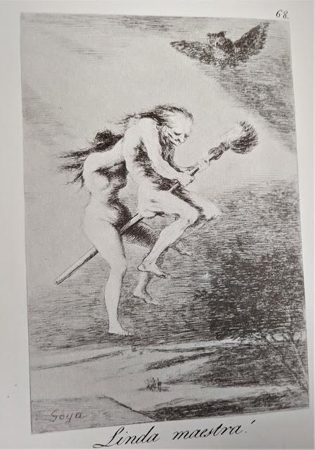 Goya's etching: Linda maestra