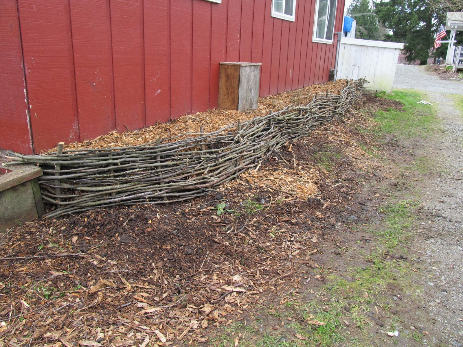 Wattle Fence Raised Bed