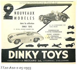Dinky Toys, publicités de l'année 1955, réf:TT 20