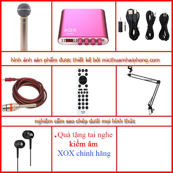 Bộ livestream XOX BD40 Micro thu âm XOX MH3