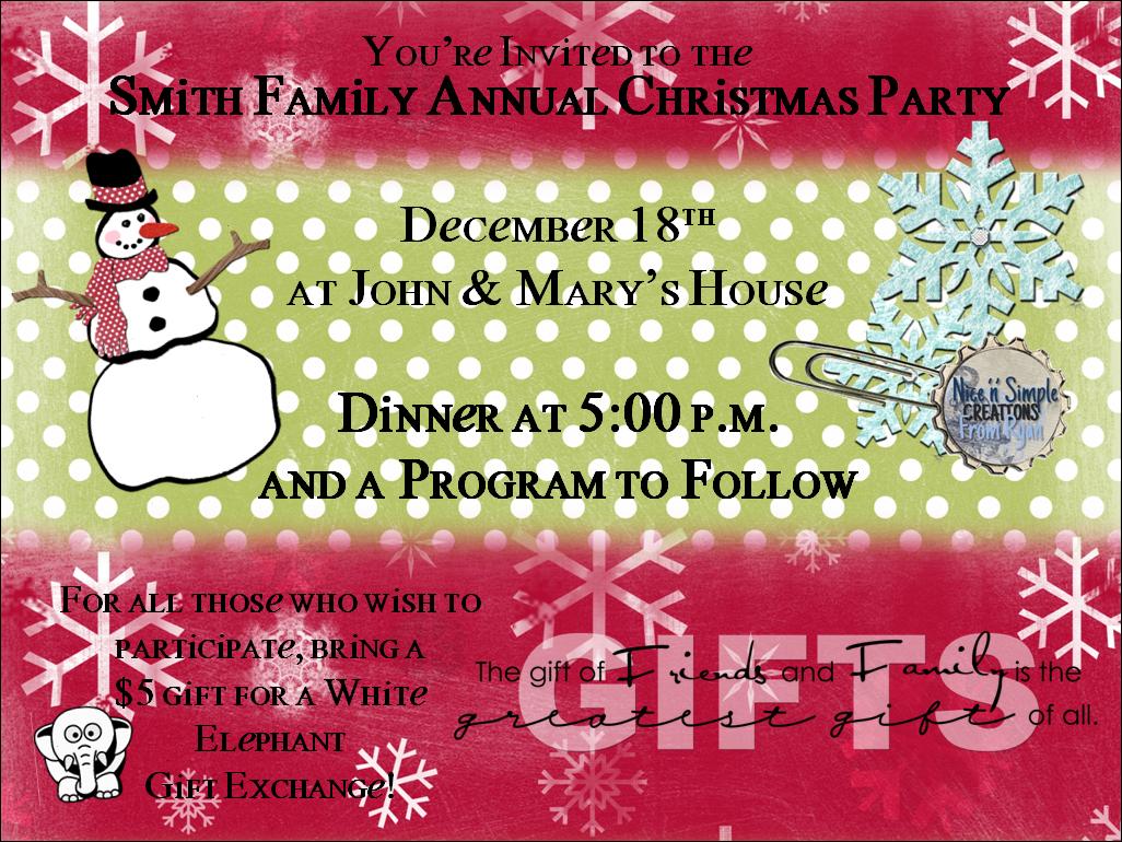 Sample Christmas Party Invitation Card – Wording for a Christmas Party Invitation