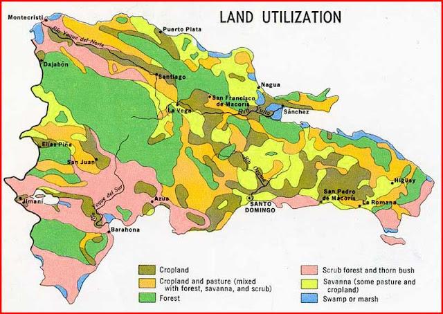 Gambar Peta pemanfaatan lahan Republik Dominika