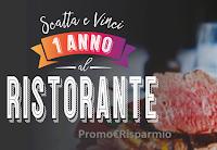 Logo Un anno al Ristorante: vinci buoni da 1.000€ da utilizzare nel ristorante preferito