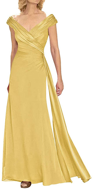 Beautiful Gold Mother of The Groom Dresses,