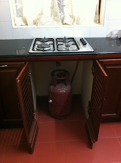 A typical stove in a kitchen in Kerala