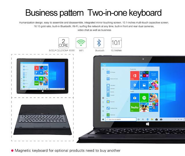 CENAVA W10PRO Intel Celeron N3350 Dual Core 4GB RAM 128GB ROM 10.1 Inch Windows 10 Tablet with Keyboard