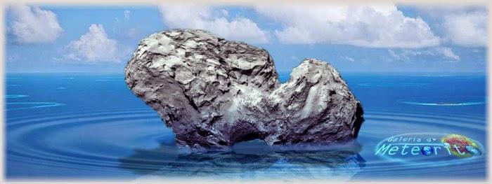 cometa flutuaria no mar