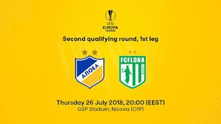 Προπώληση εισιτηρίων ΑΠΟΕΛ - FC Flora Tallinn, ΓΣΠ (UEL Q2-1leg)