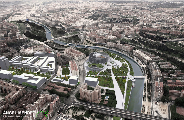 arquitectura, urbanismo, sostenibilidad, biodiversidad, Madrid Río, antigua fábrica Mahou, infraestructuras verdes, urbanismo sostenible