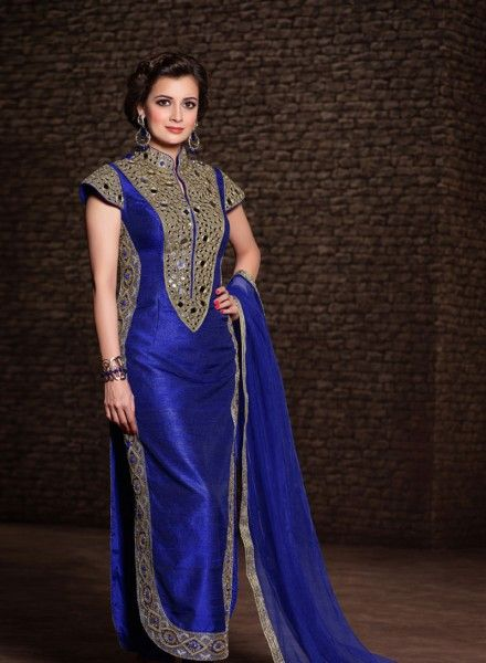 Beautiful Dia Mirza in Punjabi suits