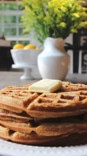 ~spiced pumpkin waffles~