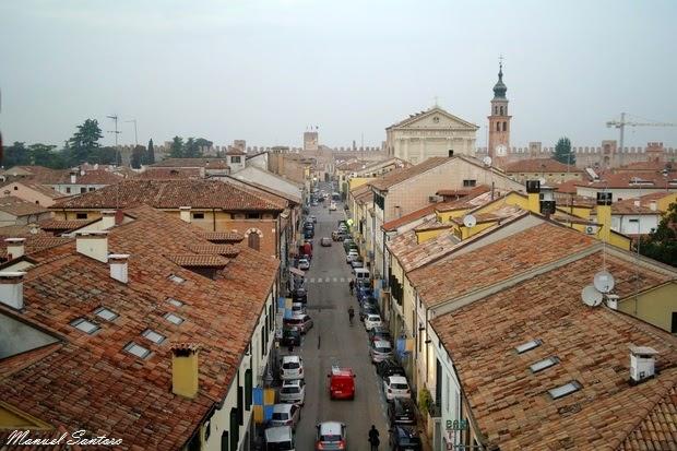 Cittadella, vista da Porta Padova