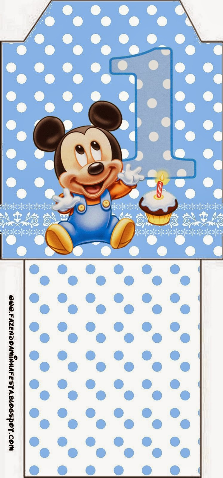 Tea labels for a First Year of Mickey with Polka Dots.