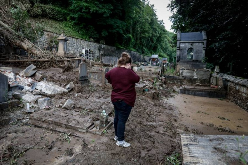 Dinant, a Belgian city experiencing the worst floods in decades Dinant, southern Belgium, was hit by the worst torrential rain in decades on Saturday after a two-hour thunderstorm turned streets into rivers, sweeping cars and sidewalks on its way, but causing no deaths.