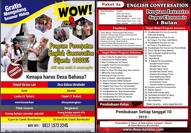 Program Super Intensif 1 Bulan Desa Bahasa Borobudur
