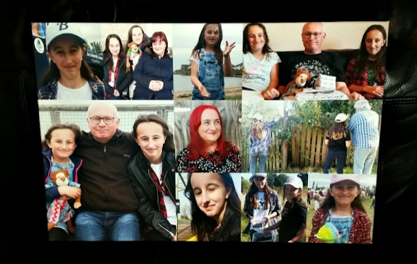 My asda photo canvas with photos of my family