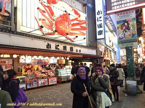 berhadapan restoran ketam di shinsaibashi