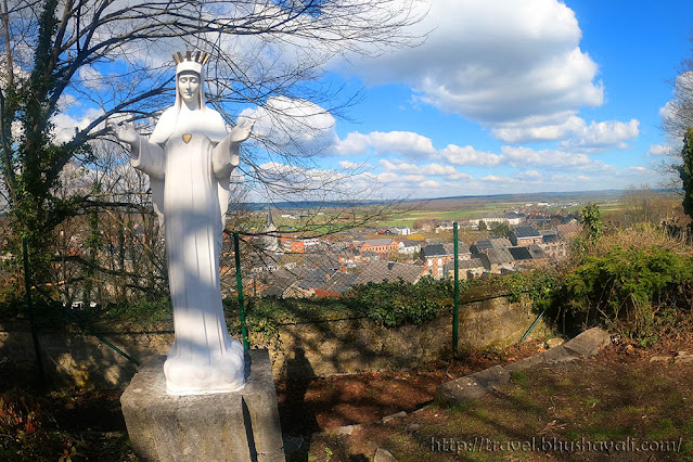 Beauraing Castle Viewpoint Apparitions of Our Lady with Golden Heart