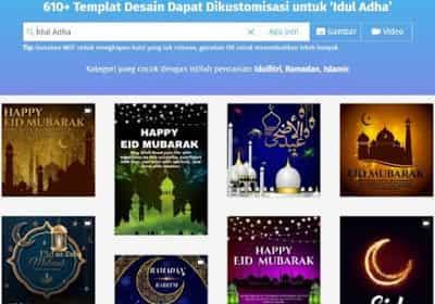 cara membuat kartu ucapan lebaran & ramadhan