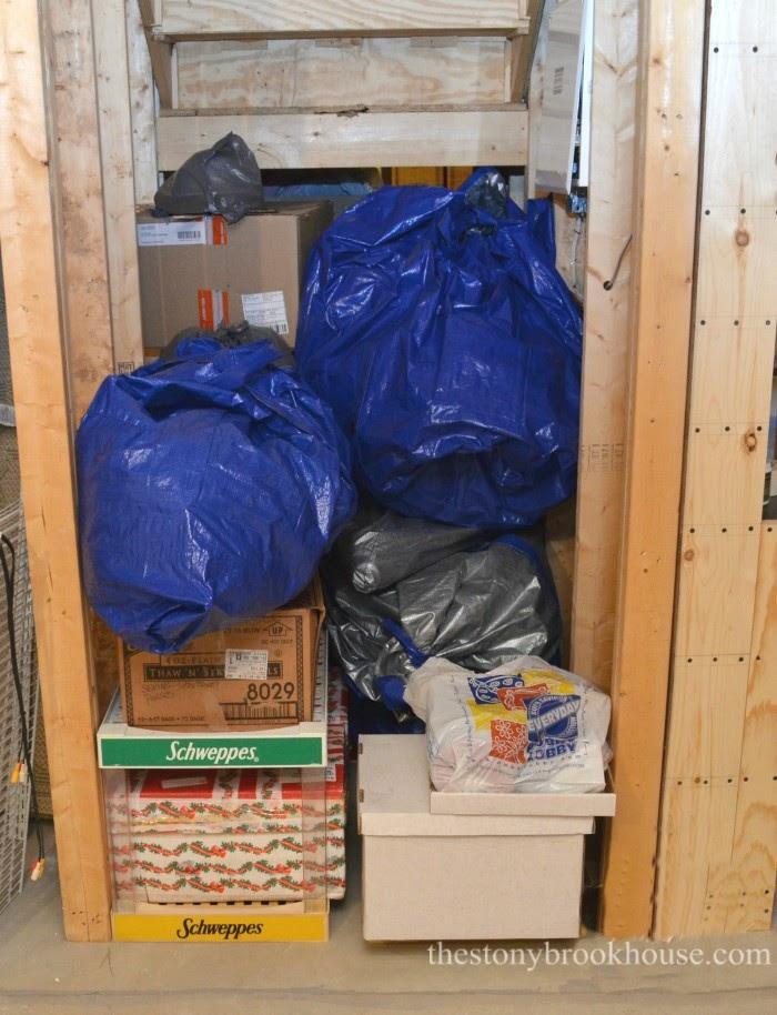 Christmas tree storage area
