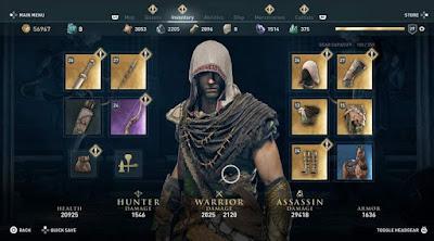 Snake Armor Set, AC Odyssey, Legendary Armor Set