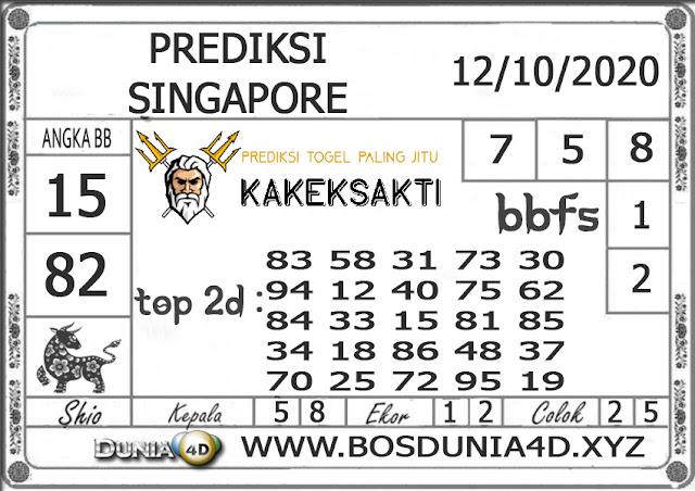 Prediksi Togel SINGAPORE DUNIA4D 12 OKTOBER 2020