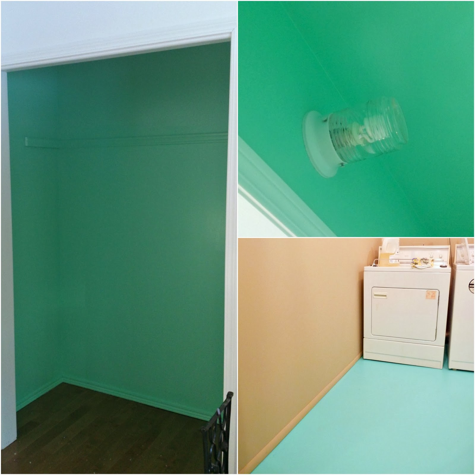 Mint closet interior