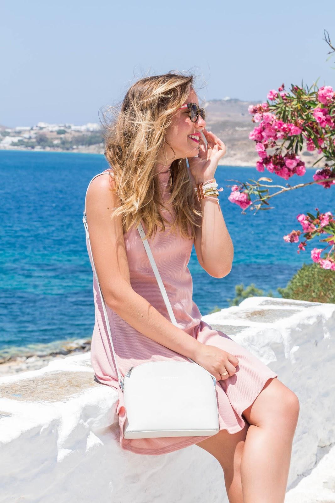 robe rose pâle été